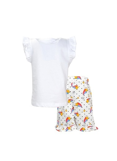 Zeyland Beyaz Stars şortlu Pijama Takımı (1-6yaş) Beyaz Stars şortlu Pijama Takımı (1-6yaş) Beyaz